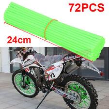 72PCS Spoke Skins Cover Motocross Dirt Bike 24cm Wheel Rim Guard Protector Wraps