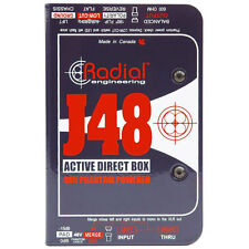 Radial Engineering J48 Phantom Powered Active Direct Box DI New