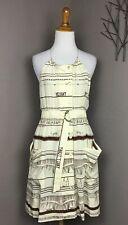 Vena Cava Silk Halter Neck Dress Pockets Whimsical Print 2