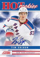 2011-12 SCORE TIM ERIXON RC AUTO SSP #559 HOT ROOKIES HR 11-12
