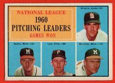 1961 Topps #47 Warren Spahn VG-VGEX WRINKLE Lou Burdette Milwaukee Braves