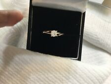 14k yellow gold and diamond engagement ring .30ctclarity SI  H color