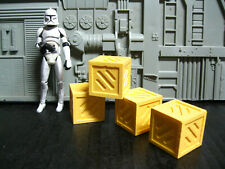 Star Wars Award Winning Custom Cast Clone Wars Crates Diorama Part Free Shipping