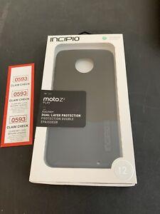 Incipio Motorola Moto Z2 Play Black black DualPro ShockProof Case NEW