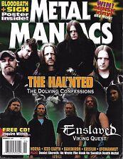 Metal Maniacs Magazine The Haunted Enslaved Viking Quest Iced Earth Bahimron