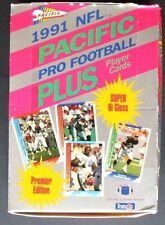 NFL Pacific 1991Pacific Pro Football Plus Trading Card Box OVP 14Cards/36Packs