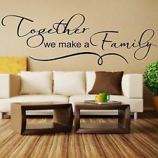 Wall stickers custom together we make a family Art Vinyl Decor Home Kids decal