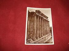 VINTAGE LEBANON: BAALBEK Temple of Bacchus  RP sepia