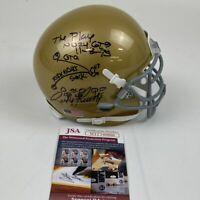 Autographed/Signed RUDY RUETTIGER Inscribed Hand Drawn Play Mini Helmet JSA COA