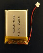 402535 3.7V 300mAh rechargeable Lipo battery with Molex compatible connector