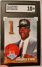 1992-93 Hoops Draft Redemption Shaquille O'Neal Magic RC Rookie HOF SGC 10 GEM💎
