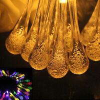 SOLAR Garden LIGHTS STRING FAIRY Multi Color 20 LED lights Ball Wedding Party *