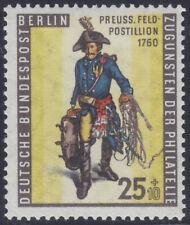 Berlin 131 ** Tag der Briefmarke 1955, Preußischer Feldpostillion, postfrisch
