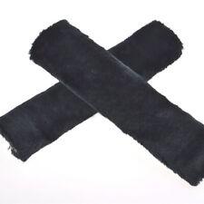 2pcs Car Plush Fluffy Safety Seat Belt Cover Harness Shoulder Cushion Pad Black