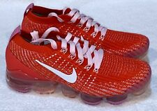 NIKE Air VaporMax Flyknit 3 Red Pink Training Running Shoes NEW Womens 5 7 7.5