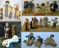 Old 25 Dolls Israel 1940-70s Hand Made Folk puppet Rabbi Jewish Art Judaica doll