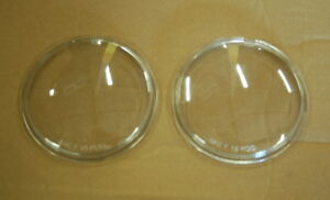 PAIR TRUCKLITE Round Clear Polycarbonate Fog Light Lens Volvo Mack Truck M371C