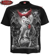 Spiral Direct TENTATRICE T Shirt/Gothique/Vampire/Morsure/Tatouage/Crâne/Motard/