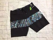 VOLCOM Board shorts Black White Macaw Size 38