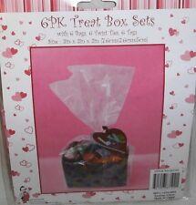 "Valentine's Day 6 PK Treat Box Sets  3"" x 3"" x 2"""