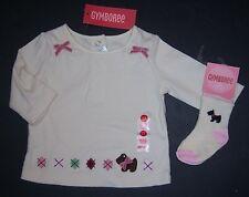 NWT Gymboree Girl Detective 3-6 Months Scottie Dog Argyle Tee & Socks