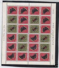 Switzerland #B229a Mint 1953 Semi Postal Bug Sheet VFNH