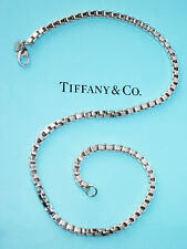 Tiffany & Co Sterling Silver Venetian Link Necklace