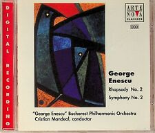 George Enescu: Rhapsody & Symphony No. 2 CD -Cristian Mandeal (Bucharest)