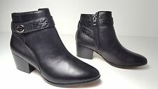 $228 size 5 Coach Patricia Black Calf Leather Heel Ankle Bootie Casual shoes NEW