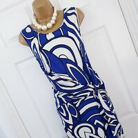 Damsel In A Dress Size 18 Silk White Blue Print Holiday Cruise Wedding Occasion