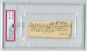 William Ellery Declaration of Independence Signer 1794 PSA/DNA Slabbed Autograph