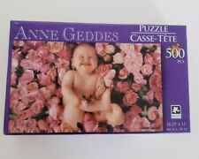 """Karmin Anne Geddes 500 Piece """"Baby in Roses"""" Jigsaw Puzzle New, 2015"""