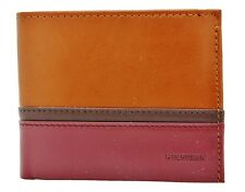NEW TOMMY HILFIGER SADDLE LEATHER CREDIT CARD DOUBLE BILLFOLD MEN'S WALLET