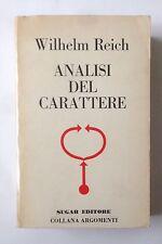 REICH, analisi del carattere sugar  1973. prima edizione