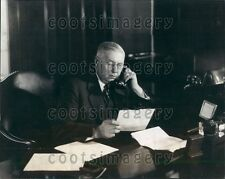 1929 General Manager Canadian National Telegraph WG Barber On Phone Press Photo