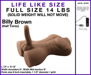 3D Lifelike Silicone Doll Male Body Torso Sex Toy Big Penis & ASS Luis Billy