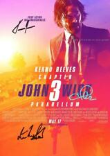 """JOHN WICK CHAPTER 3 PP SIGNED 12""""X8"""" A4 PHOTO POSTER KEANU REEVES HALLE BERRY"""