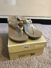 michael kors warren sandal metallic 9.5 Womens