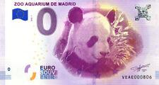 ESPAGNE Madrid, Zoo aquarium, N° de la 9ème liasse, 2018, Billet 0 € Souvenir