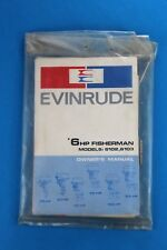 1971 Evinrude Outboard 6 HP Fisherman 6102 6103 Owner's Manual Model
