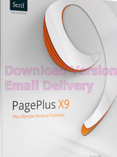 Serif PagePlus X9 ESD - Download - Instant Delivery! + free access to 1m imag