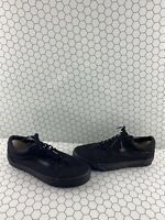VANS Old Skool All Black Canvas Lace Up Low Top Shoes Men's Size 9.5  Women's 11
