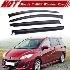 For Mazda 5 compact MPV Side Window Visor Sun Rain Guards Smoke 1999-2016