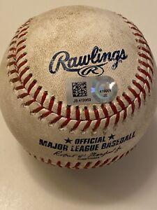 MLB Authenticated - Francisco Lindor RBI SINGLE - Tylor Megill MLB DEBUT Game!!