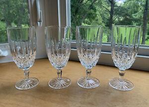 """Mikasa Old Dublin 4 Iced Tea Goblets Glasses Crystal Blown Glass 7 3/8"""""""