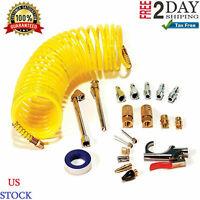 AIR COMPRESSOR ACCESSORY KIT Recoil Airhose Essential Accessories 20 Piece Set.