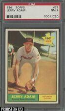 1961 Topps #71 Jerry Adair Baltimore Orioles PSA 7 NM