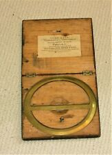 DRAUGHTSMAN CIRCULAR PROTRACTOR DRAWING SURVEYING INSTRUMENT, BOX 7.5 IN. SQ.