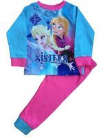 Frozen Girls Pyjamas Disney Anna and Elsa Pjs Sleepwear Ages 1.5 to 5 Years