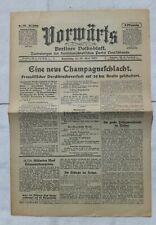 VORWÄRTS (19. April 1917): Eine neue Champagneschlacht
